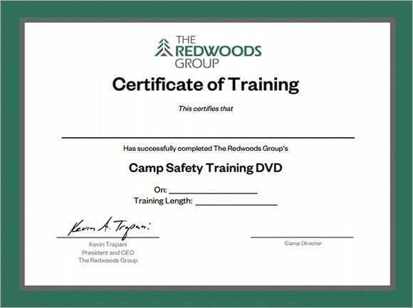 Free Training Certificate Template 6 Free Training Certificate - free training certificates