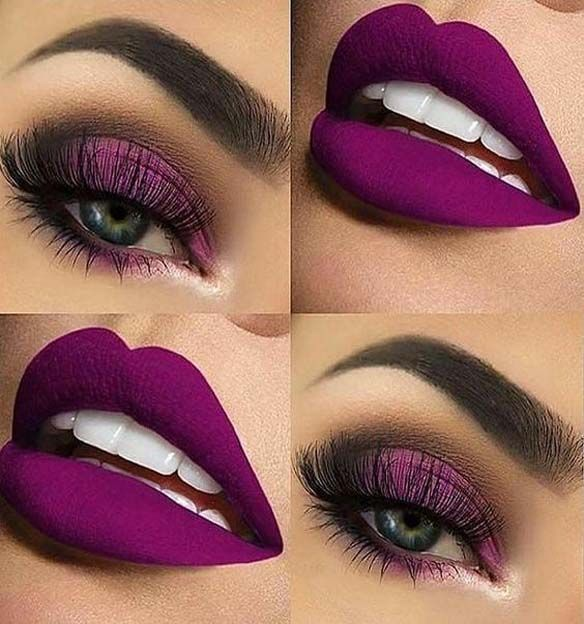 Dazzling Eyes and Lips Makeup