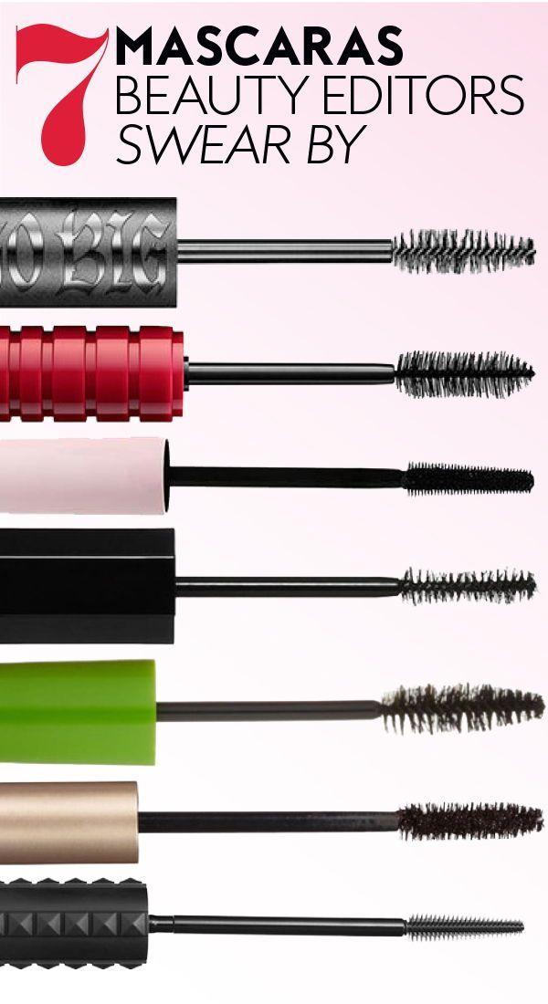 7 #mascaras beauty editors swear by. #bestmascaras #makeup #eyemakeup