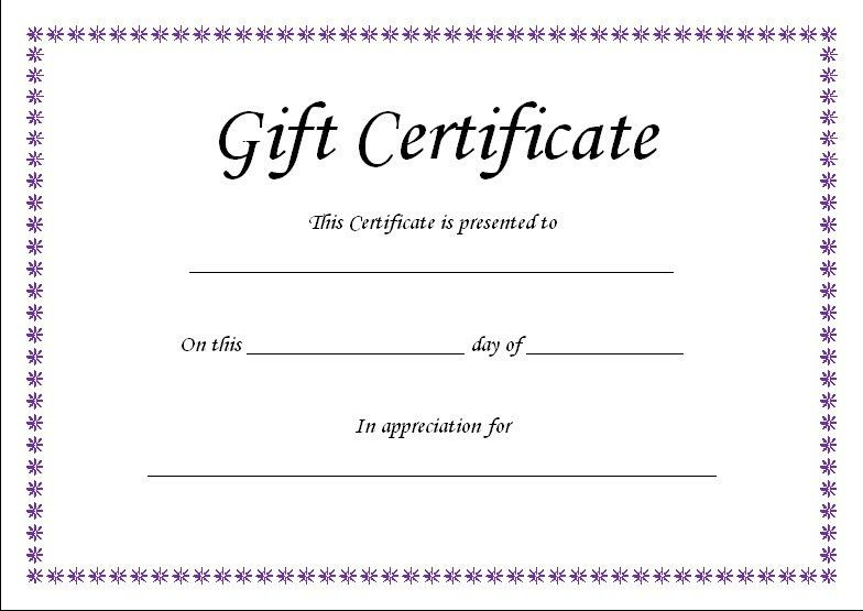 Printable Gift Vouchers Template Click Here For Full Size - blank vouchers template