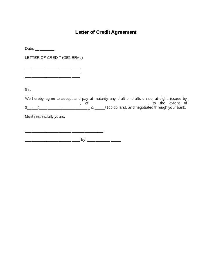 Agreement To Pay Letter Installment Payment Agreement Template - credit agreement