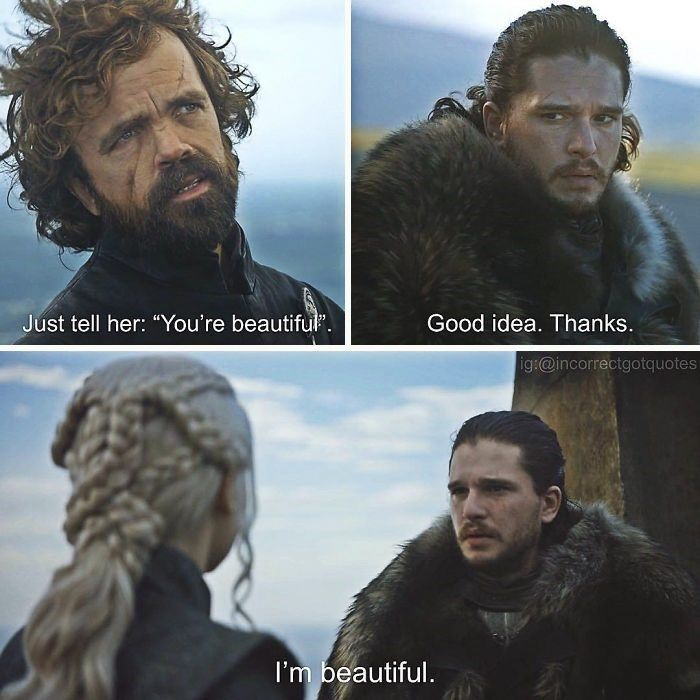 This is not a spoiler free zone, so watch yourself. #memes #images #GOT #funny #jokes #captions