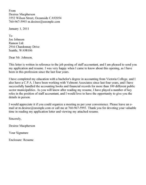Sample Accounting Resume Cover Letter Accountant Cover Letter - entry level accounting cover letter