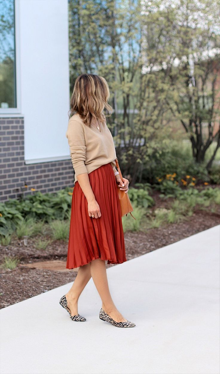 Fall Colors + Event of the Season   Lilly Style, leopard flats, fall outfit, fall skirt outfit