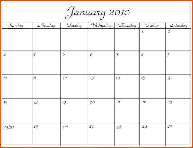 microsoft office templates calendars