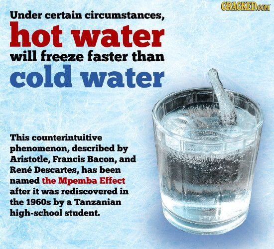 Hot Water Freezes Faster Than Cold Water: 20 Mind-Blowing Facts That Seem Like BS (But Aren't)
