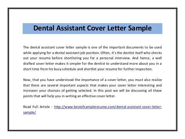 Sample Dental Hygiene Cover Letter