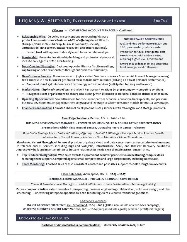 Enterprise Sales Resume Enterprise Sales Executive Resume Example - sales executive resume