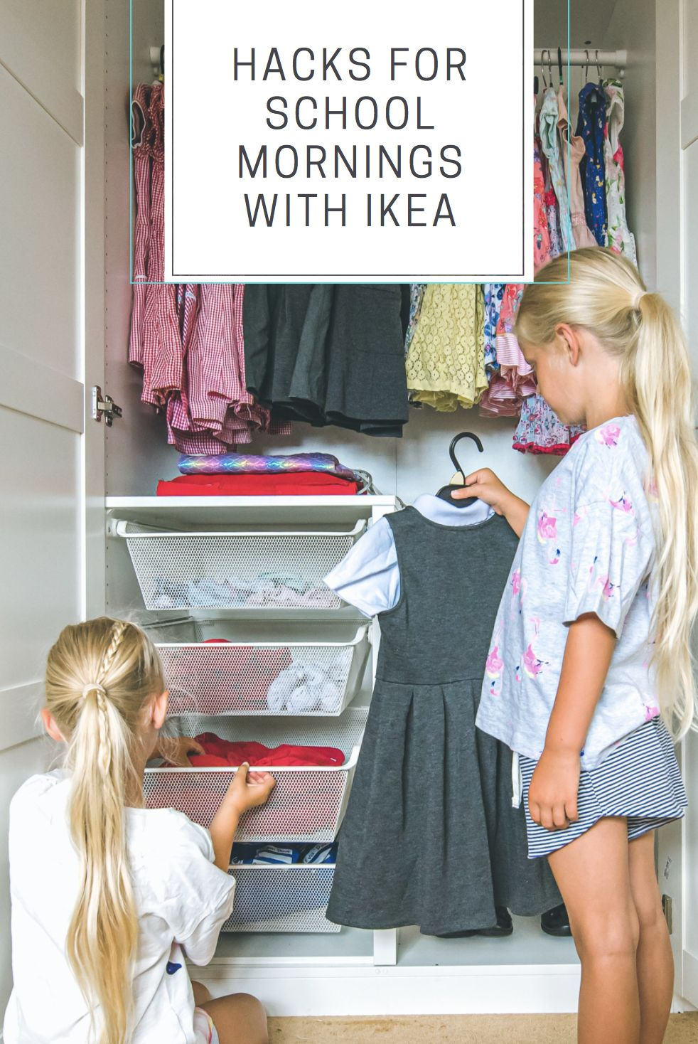 Hacks for school mornings with Ikea