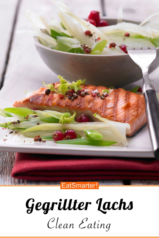 Gegrillter Lachs mit Fenchel - und Johannisbeeren - smarter - Kalorien: 237 kcal - Zeit: 20 Min. | eatsmarter.de #eiweißdiät #rezeptidee #lachs #fenchel