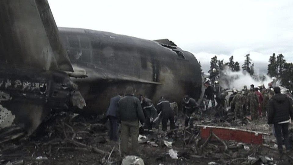 Algierian Defence Ministry air crash. April 11, 2018. The