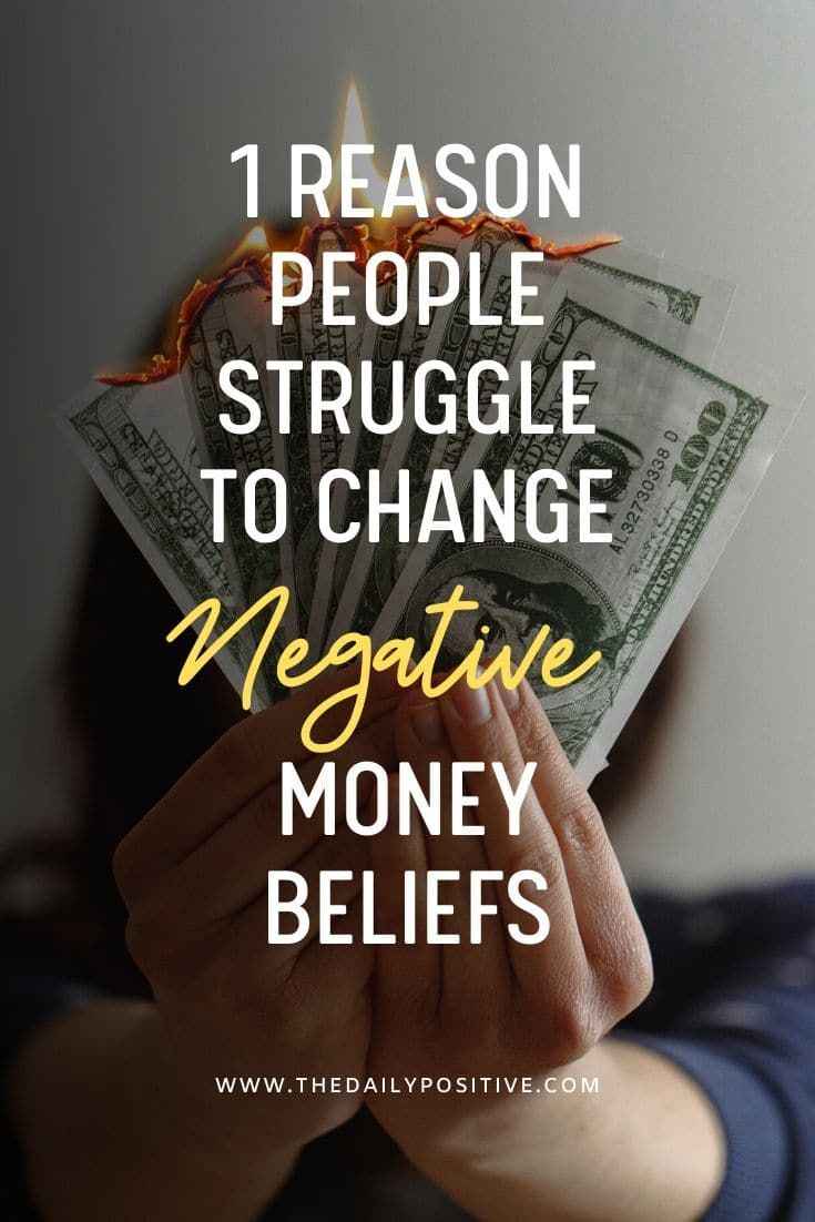 Here is one common reason why people struggle to change their mindset when it comes to money - to shift old negative money beliefs to instead adopt new powerful abundant beliefs...