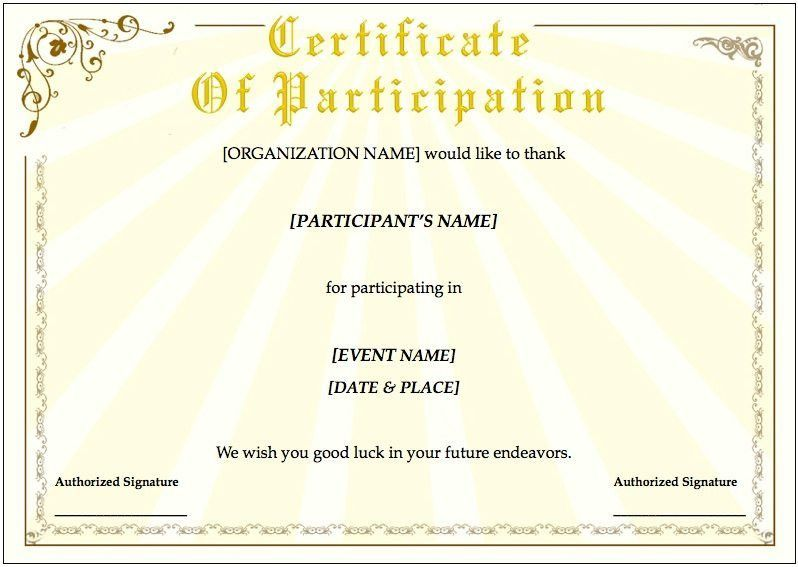 Certificate For Training 8 Training Certificate Templates Excel - free training certificates