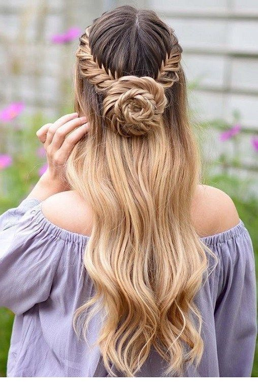 I want this braid and bun for a summer day