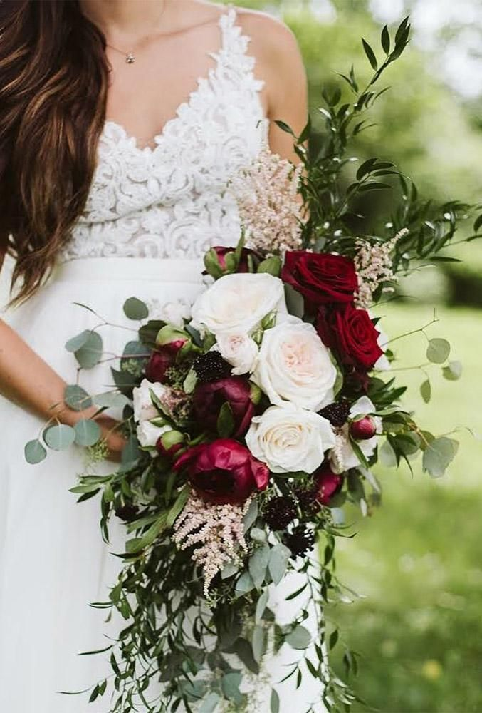 30 Wonderful Ideas Elegant Wedding Bouquets ❤ elegant wedding bouquets marsala bouquet leroyfrenchflowers #weddingforward #wedding #bride