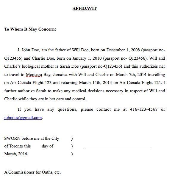 Parental Consent Letter For Work Sample Parental Consent Letter - passport consent forms