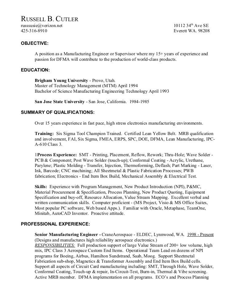 Electronic Assembler Resume] Professional Electronic ...
