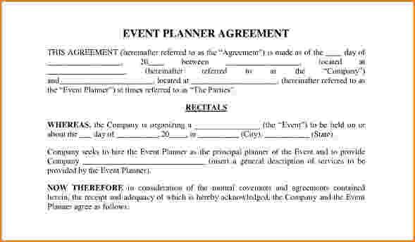 Sample Event Planning Contract Sample Contracts For Event - dj contract template