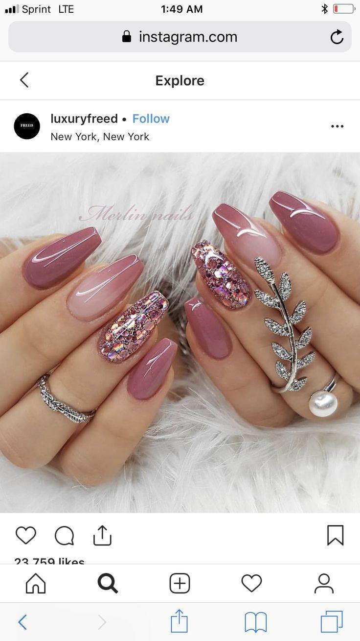 NagelDesign Elegant ( Gorgeous ) #elegant #gorgeous #manicure #nageldesign #nageldesignelegant #nageldesignelegantgalerie #nageldesignschlichtundelegant #naildesign2019 #naildesign
