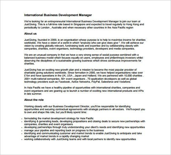 Application Development Manager Job Description Top 8 Application - business manager job description