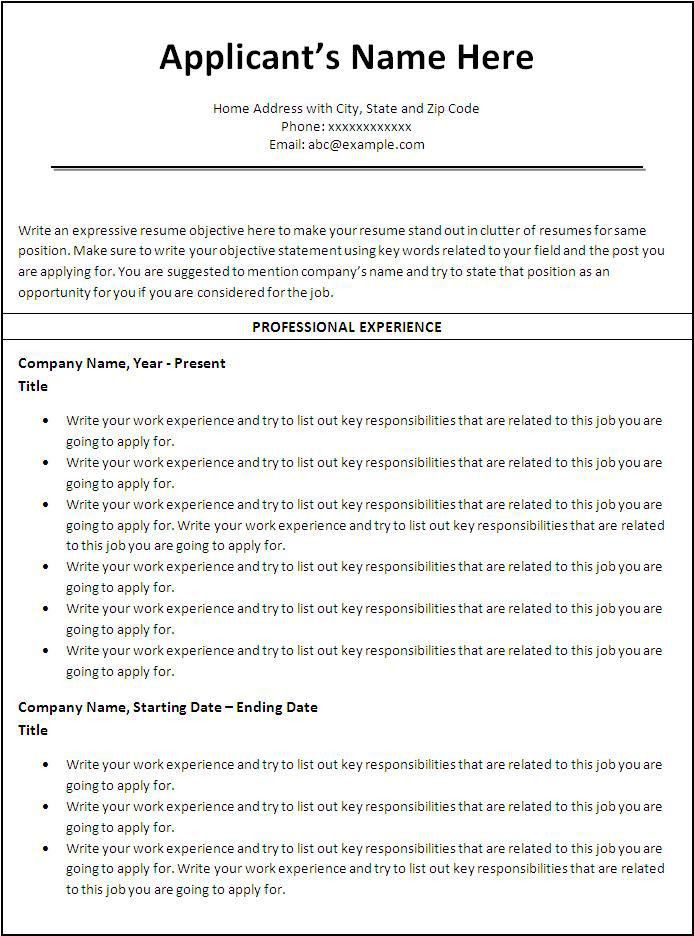 Sample Effective Resumes Resume Samples For All Professions And