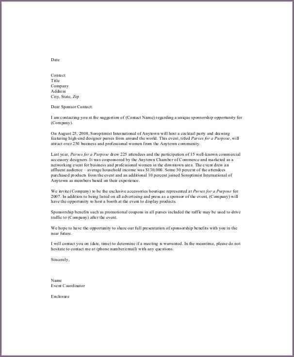 Sponsor Letter For Event Sample Event Sponsorship Letter 5 - event proposal letters
