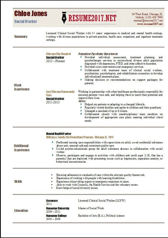 social service resume template social worker resume template
