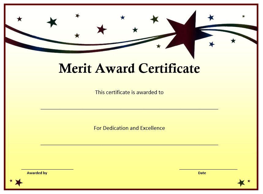 Merit Certificate Sample 6 Merit Certificate Templates Excel Pdf - certificate sample
