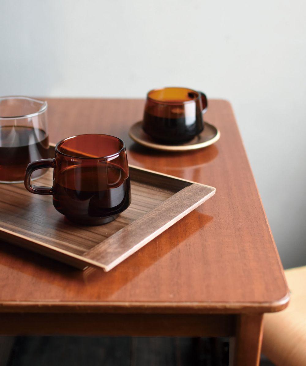 SEPIA Glassware From KINTO Evokes Nostalgia and Comfort - Design Milk