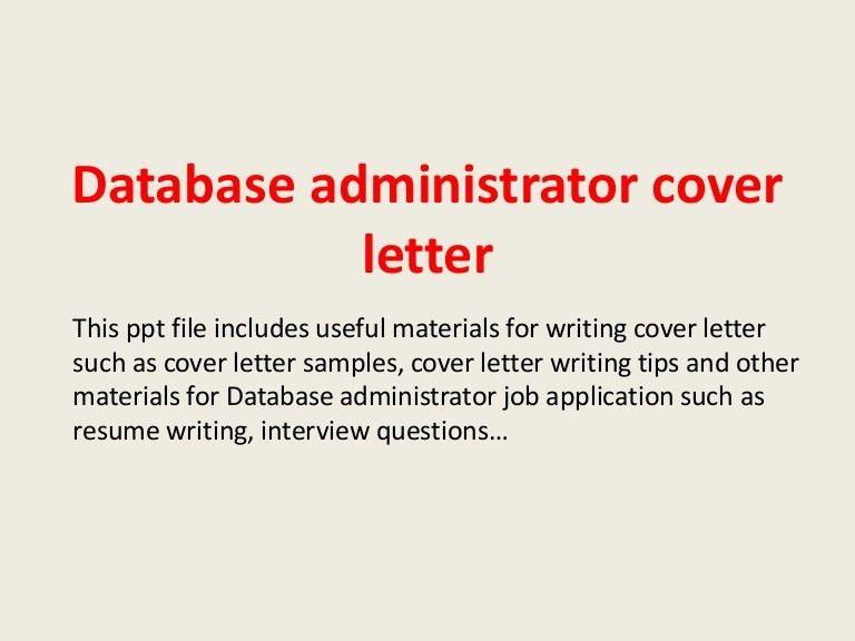 ... Database Administrator Cover Letter Top 5 Database Administrator    Oracle Database Administrator Cover Letter ...