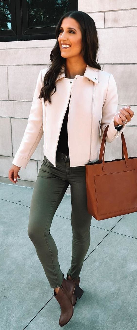 pink leather blazer