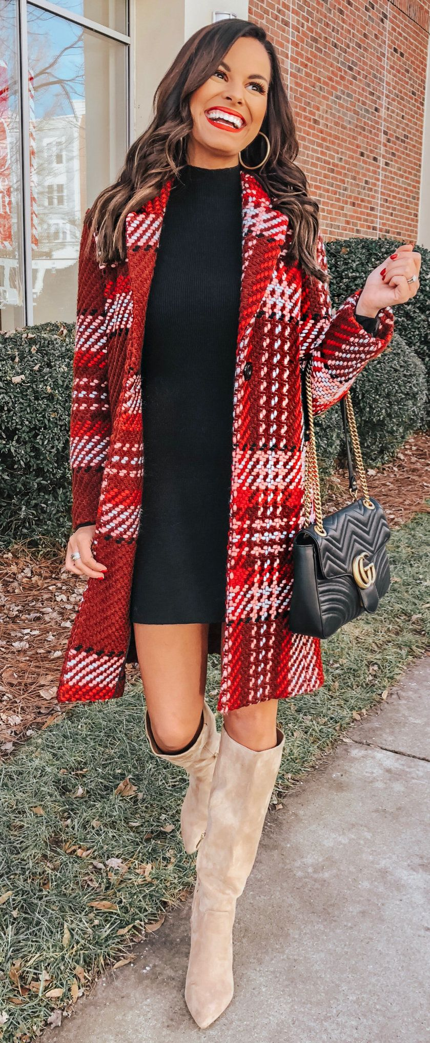 red and white coat