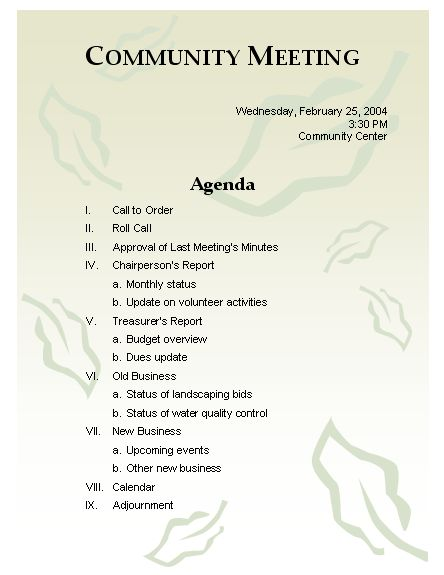 Agenda Points For Meeting Meeting Agenda Business Ppt Slides - sample conference schedule template