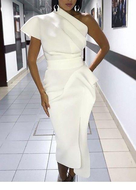 Classic white dress design