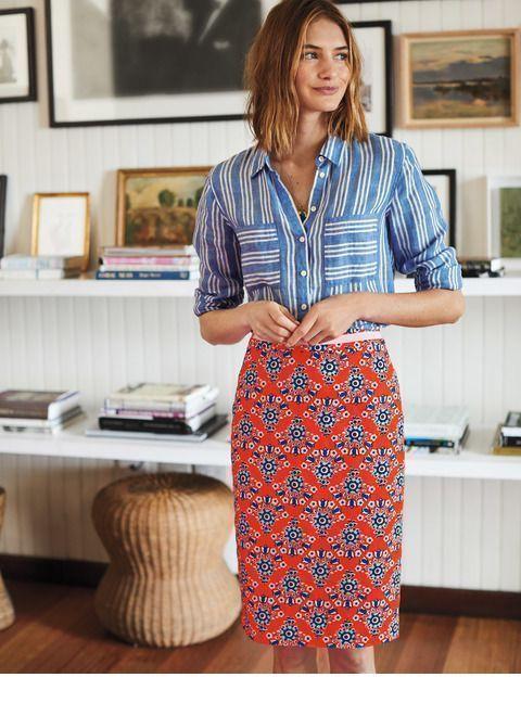 Nice prints for shirt and skirt