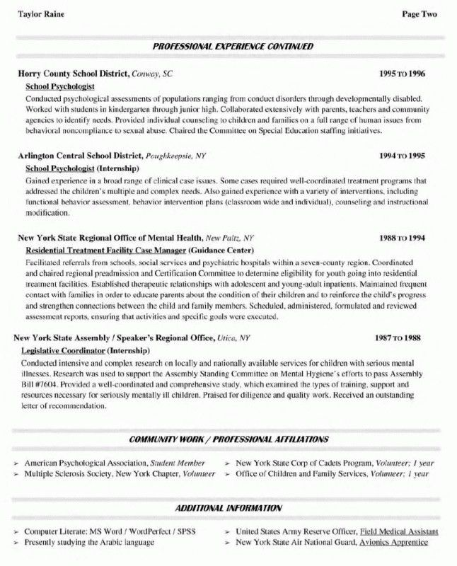 Resume For Adjunct Faculty Position