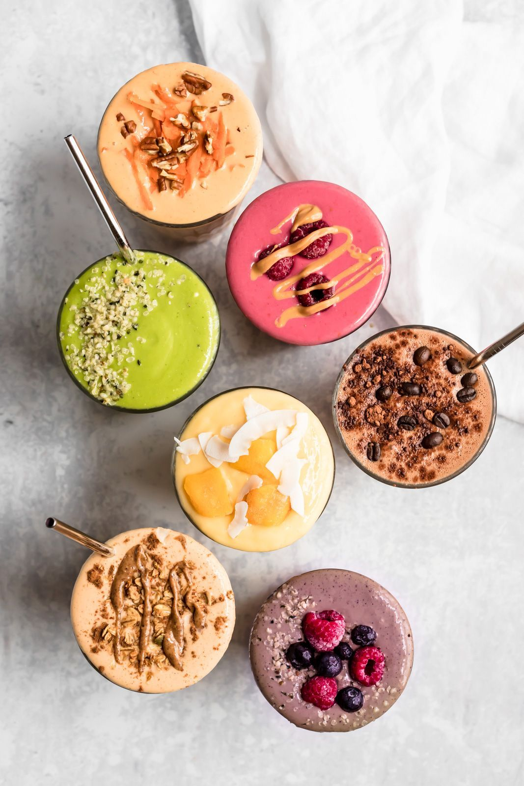 Sign me up for smoothies! There's something for everyone in this smoothie recipe roundup from @ambitiouskitchen, plus they're all super easy to make! #healthyrecipes #foodblogger #recipes #smoothierecipes
