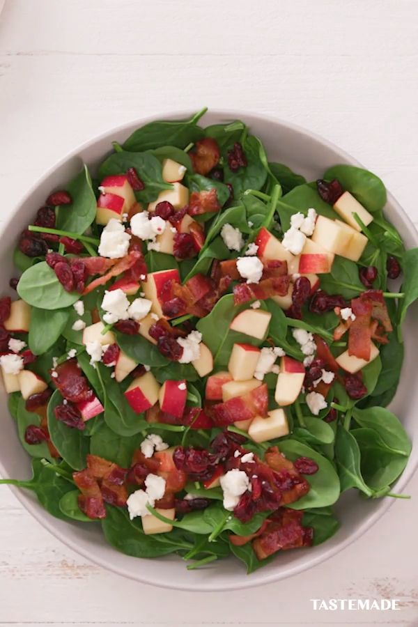 Crisp Apple and Spinach Salad with Homemade Poppy Seed Salad Dressing