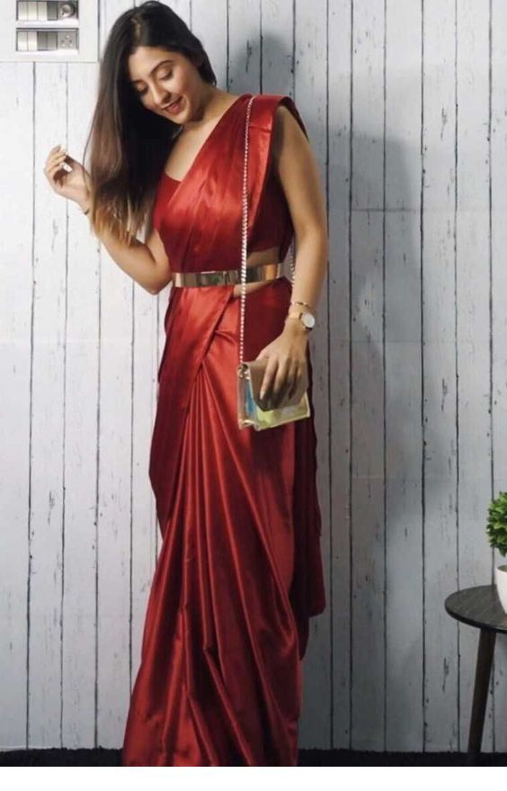 Nice red satin dress