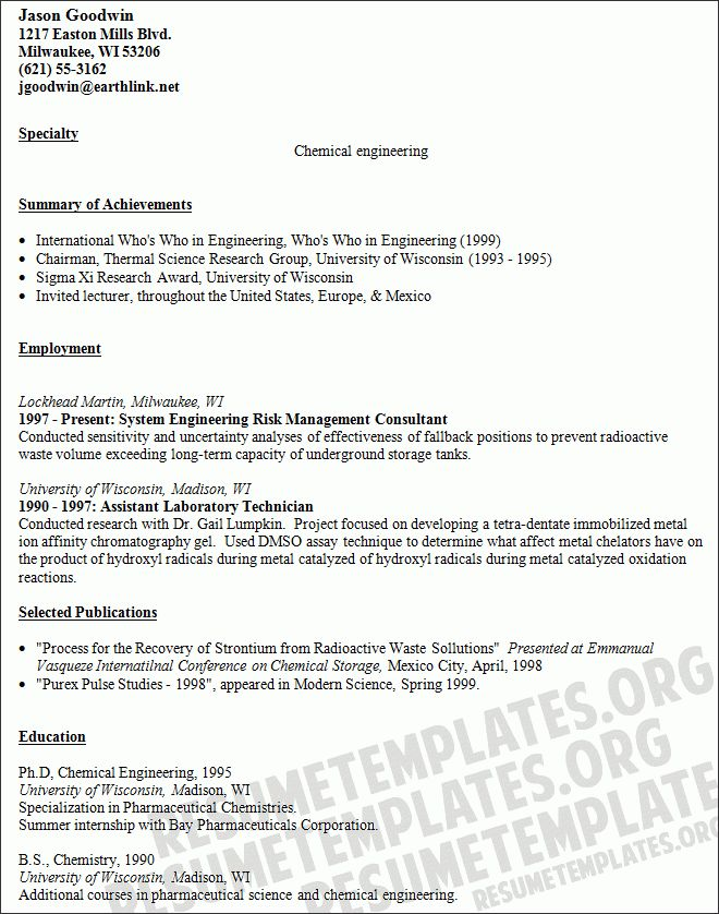 chemical engineer resume examples engineer resume example chemical engineer sample resume - Chemical Engineer Resume Example