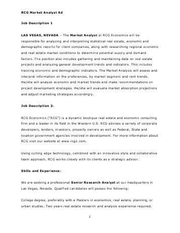 Job Description For Data Analyst How To Write Job Descriptions - research analyst job description
