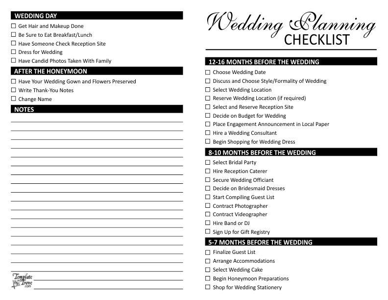 Wedding Planner Templates 13 Wedding Planner Templates Free - wedding checklist template