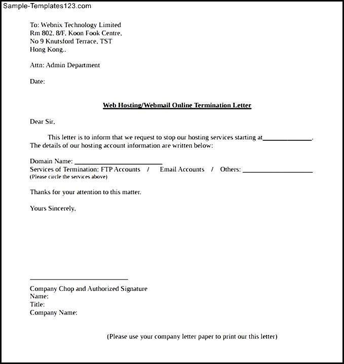 Termination Paperwork Template Free Termination Letter Template - examples of termination letters