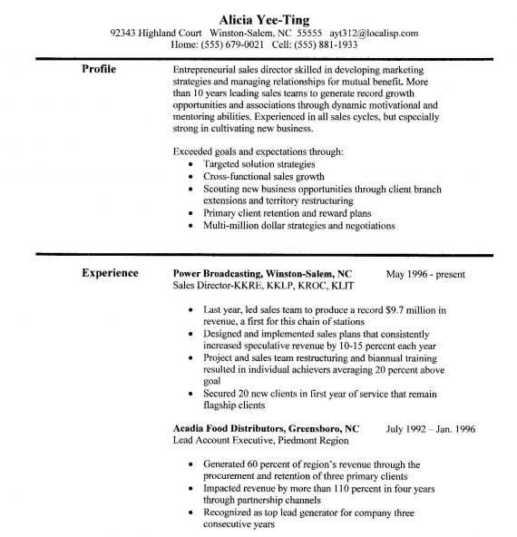 accomplishments on resume samples unforgettable general manager