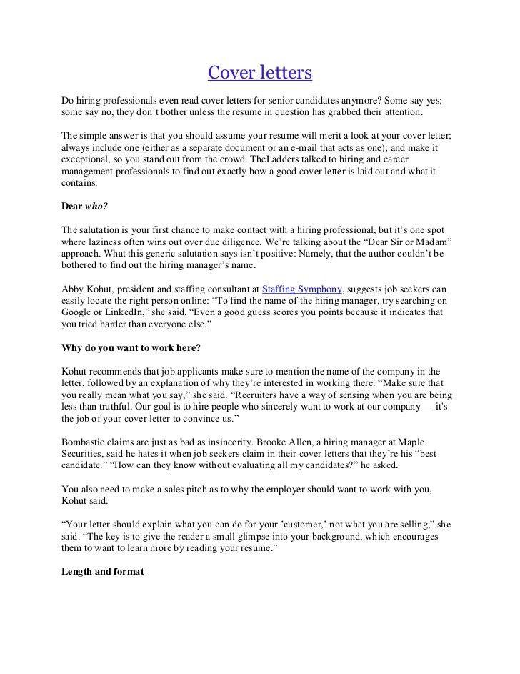 Cover Letter Length General Amitdhullco
