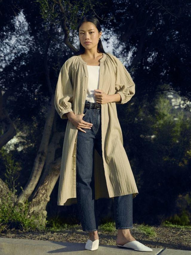 Damen lockere Jeans in 7/8-Länge | UNIQLO