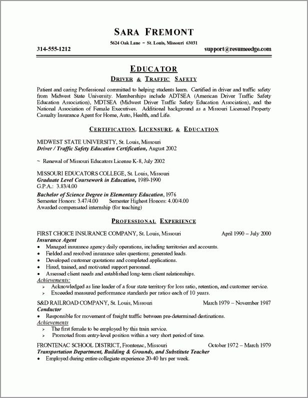 Transition Resume Examples - Examples of Resumes - examples of career change resumes