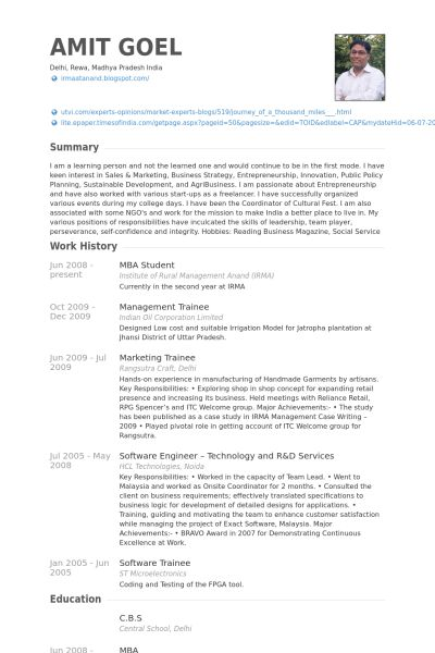 Mba Graduate Resume Examples - Examples of Resumes