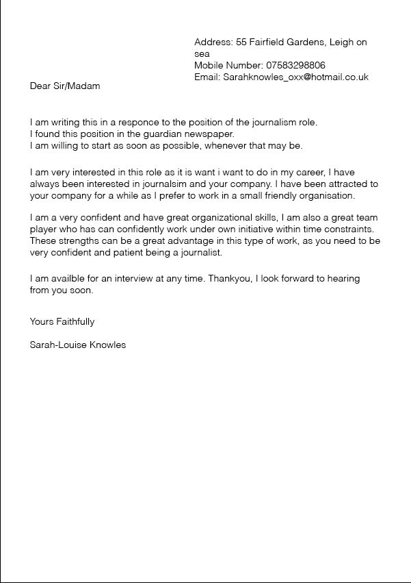 Cover Letter Template For Mac   Cover Letter