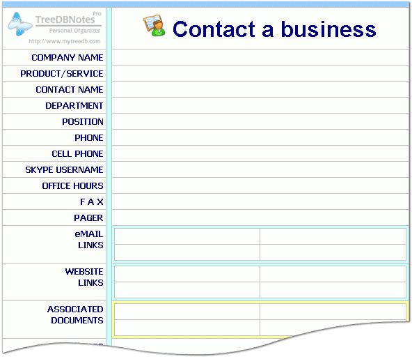 office phone list template – Company Contact List Template